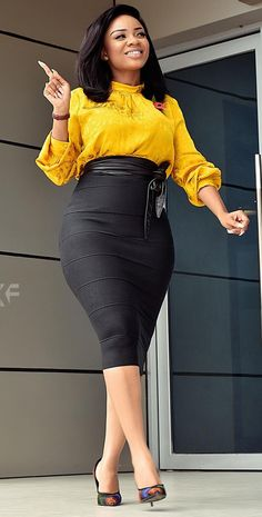 Classy Serwaa Amihere Serwaa Amihere looking classy in her corporate attire, office outfits women, office outfits women young professional top and long black skirt with amazing shoes. Source by women Office Dresses Office Dresses For Women, Office Outfits Women, 30 Outfits, Chic Outfits, Dress Outfits, Sweater Outfits, Woman Outfits, Corporate Outfits, Business Casual Attire