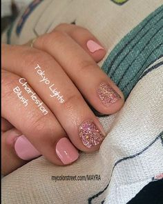 Gorgeous DIY Mani with Color Street. Get this look and more. No heat, dry time, or smudging! Nail Color Combos, Nail Polish Colors, Toe Nails, Pink Nails, Nail Time, Dipped Nails, Color Street Nails, Jamberry Nails, Fabulous Nails