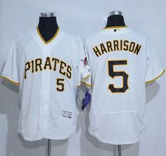 43ffc806a28 Pirates  5 Josh Harrison White Flexbase Authentic Collection Stitched MLB  Jersey
