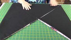 Origami Tote Bag, Diy Tote Bag, Tote Bags, Triangle Bag, Japanese Knot Bag, Fabric Origami, Origami Folding, Diy Bags Purses, Bag Patterns To Sew
