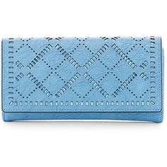 Urban Expressions Abigale Vegan Leather Wallet (€18) ❤ liked on Polyvore featuring bags, wallets, blue, faux leather wallet, urban expressions wallets, blue bag, vegan leather wallet and urban expressions bags