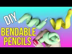 DIY Bendable Pencils! Stress Pencils - Eraser & Pencil DIYs - Cool DIY Project! - YouTube