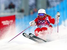 Ladies' Moguls Qualification 1 Day 0. Audrey Robichaud of Canada competes in the Ladies' Moguls Qualification during the Sochi 2014 Winter Olympics at Rosa Khutor Extreme Park.
