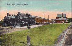 1913 Union Railroad Train Depot Mankato Minn