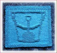 Shovel & Pail Dishcloth pattern by Rachel van Schie Knitting Squares, Dishcloth Knitting Patterns, Knit Dishcloth, Crochet Patterns, Cloth Patterns, Hat Patterns, Bobble Crochet, Knit Or Crochet, Patchwork Blanket
