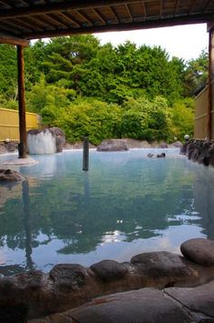 Hot spring in Yufuin, Oita, Japan Places Around The World, Around The Worlds, Japanese Hot Springs, Beppu, Japanese Bath, Oita, Spring Resort, Kyushu, Japanese Culture