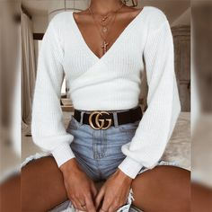 Nadafair sexy off shoulder white casual sweater women autumn winter long sleeve knitted crop tops back bow slim solid sweater – Ali Explorer – Daily Outfits Mode Outfits, Trendy Outfits, Fashion Outfits, Outfits 2016, Fancy Casual Outfits, Girly Outfits, Casual Sweaters, Sweaters For Women, White Sweaters
