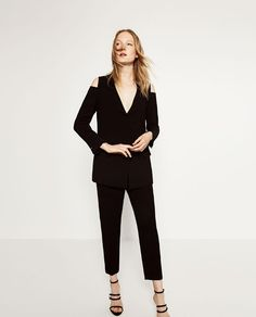 CUT-OUT SHOULDER BLAZER from Zara for a trendy play on the classic black jacket