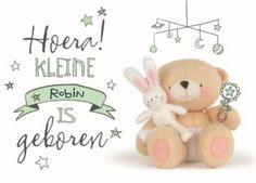 Hoera, een kleine geboren! #Hallmark #HallmarkNL #foreverfriends #geboorte #beertje #konijn #felicitatiekaart
