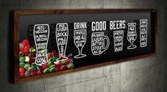 Quadro para Tampinhas Panorâmico - Drink Good Beer