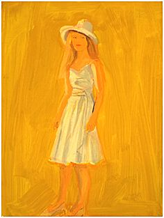lex Katz, Untitled (Woman in Dress), 2011  Oil on masonite, 16 x 12 in (40.6 x 30.5 cm)
