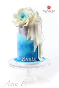 Watercolour Cake by Red Polka dot Designs