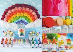 Rainbow Party: Backdrop Inspiration from gwlynn wasson designs