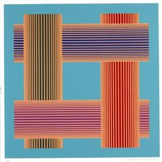 Richard Anuszkiewicz, Trans-Lumina with Turquoise 1986 serigraph on paper image: 24 x 24 in. Smithsonian American Art Museum