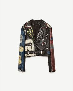 Image 8 of CROPPED LEATHER JACKET from Zara