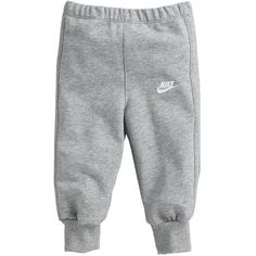 Nike Baby Fleeced Tracksuit Bottoms Grey ($22) ❤️ liked on Polyvore featuring baby, baby boy, bottoms and pants
