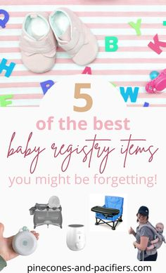 5 baby registry items you might be forgetting (from a mom of two!). Perfect for new mamas or seasoned mams looking to make sure their baby registry is complete. These are some of my favorite and most-used baby items that I often see left off baby registry lists. Best Baby Registry, Baby Registry Checklist, Baby Registry Must Haves, Baby Registry Items, Baby Schedule, Baby Must Haves, Used Baby Items, Baby On A Budget, 5 Babies