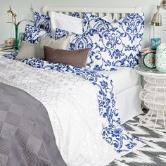 bedroom in colorful ethnic style by zara2 6 Details in blue that complement the interior of a bedroom   Trendy blue bedroom