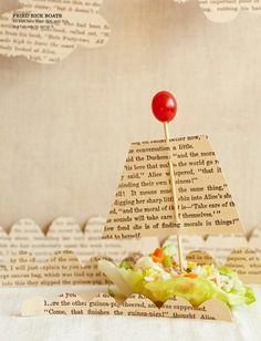 Barquito de papel para decorar la merienda