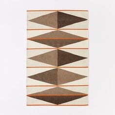 Terrazzo Wool Dhurrie Rug, Natural Gray, 2'x3'