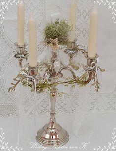 #ShabbyChic #Weihnachtsdeko #Weihnachtsleuchter #Adventsleuchter http://Wohngeschichten-von-K.dawanda.com