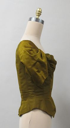 Bodice, Charles James,1948, silk. Side view