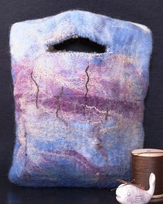 In the gloaming hand felted bag
