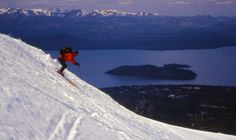 Skiing at Catedral Resort above Bariloche, Argentina