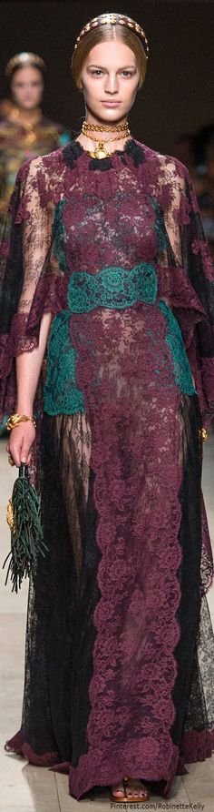 Valentino Spring 2014 Lace & Embroidery Maxi Dress