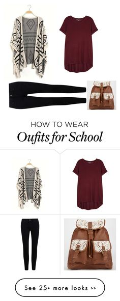 """Back to School Fall"" by matilda131 on Polyvore featuring moda, Vince y T-shirt & Jeans"