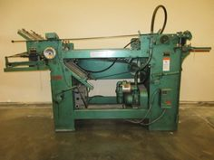 Baum Pile Feeder and Paper Folder  17 1/2 x 22 1/2 and 11 x 17, Used