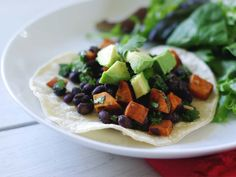 Mexican Black Beans and Sweet Potatoes