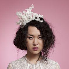 Aimee - Lace headpiece. Cappellino Bridal