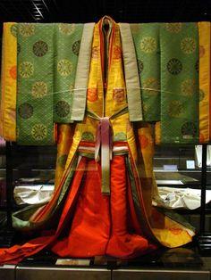 Twelve Layer Kimono (front). Heian period.
