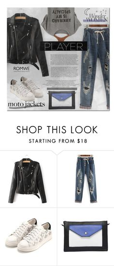 """""""After Dark: Moto Jackets"""" by hangar-knjiga ❤ liked on Polyvore featuring WithChic and motojackets"""