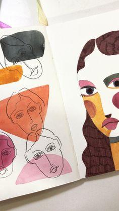 New art painting illustration mobiles ideas Kunstjournal Inspiration, Sketchbook Inspiration, Painting Inspiration, Art And Illustration, Creative Illustration, Medical Illustration, Art Inspo, Kunst Inspo, Art Visage