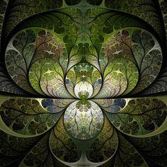 Spring Stained Glass ~ fractal art by Scott Ferman