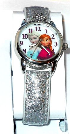 Disney Frozen Anna & Elsa WHITE Glitter  Strap Watch With COLLECTOR BOX #Disney http://stores.ebay.com/JEWELRY-AND-GIFTS-BY-ALICE-AND-ANN