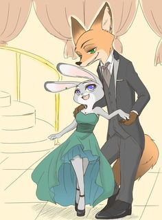 Judy and Nick in a ball #zootopia