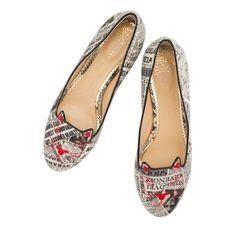 CHARLOTTE OLYMPIA KITTY FLATS. #charlotteolympia #shoes #