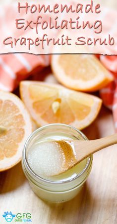 Homemade Exfoliating Grapefruit Scrub  http://www.grassfedgirl.com/homemade-exfoliating-grapefruit-scrub/
