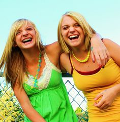 Two Happy Laughing Smiling Colorful Summer Girls by Pink Sherbet Photography, via Flickr