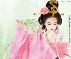 Chinese painting of ancient beauty