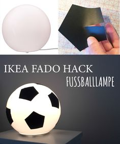 This IKEA HACK with the IKEA Fado lamp is a real eye-catcher in football . Soccer Bedroom, Kids Bedroom, Ikea Fado, Football Rooms, Football Fans, Ikea Furniture, Kidsroom, Room Themes, Boy Room