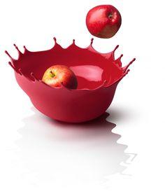 Dropp! Centerpiece Bowl, uitgevoerd in siliconen, diameter 29cm Rood