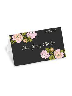 whimsical botanical place cards