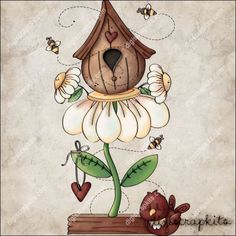 Daisy Birdhouse 1 Clip Art Single http://digiscrapkits.com/digiscraps/index.php?main_page=product_info&cPath=921_903&products_id=8824