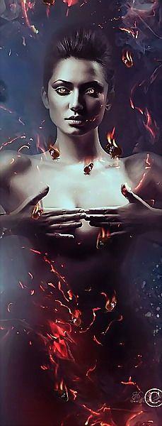 Creative Digital Art by Katt Amaral World Of Fantasy, Dark Fantasy, Wolf, Flame Art, Dark Artwork, Art Village, Earth Design, Beautiful Book Covers, Goth Art