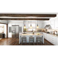 Open Kitchen And Living Room, Home Decor Kitchen, House Kitchen Design, Big Kitchen, Kitchen Designs, Kitchen Ideas, Modern Farmhouse Kitchens, Home Kitchens, Modern Open Kitchens