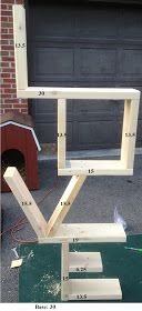 "DIY Love Bookshelf....Be sure to note that the measurement for the bottom of the ""L"" should be 24"" NOT 30"""